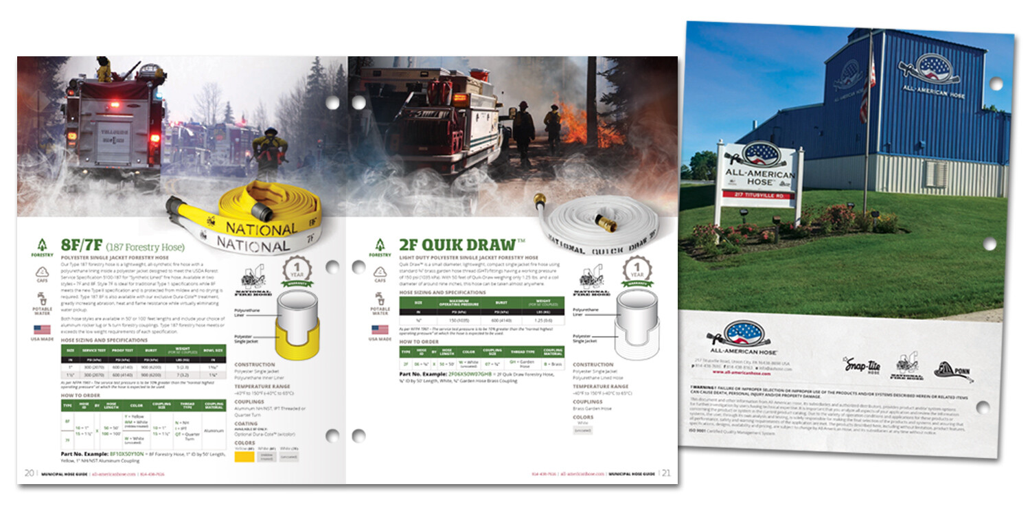 All-American Hose Brochure: Forestry Hoses and Back Cover