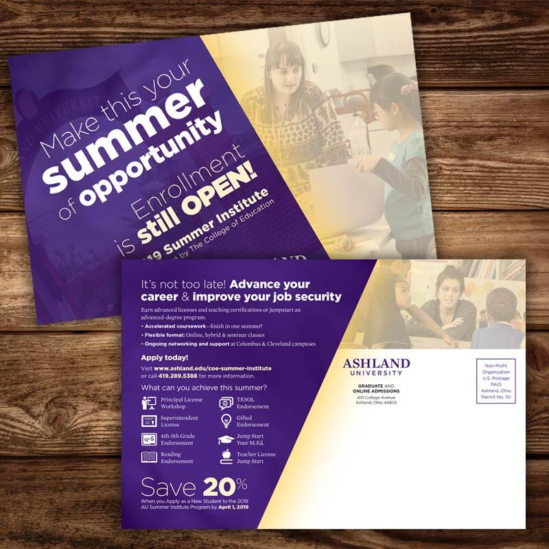Ashland University College of Education Post Cards