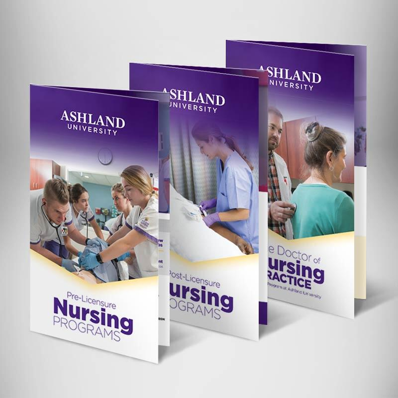 Ashland University School of Nursing Oversized Trifold Brochures