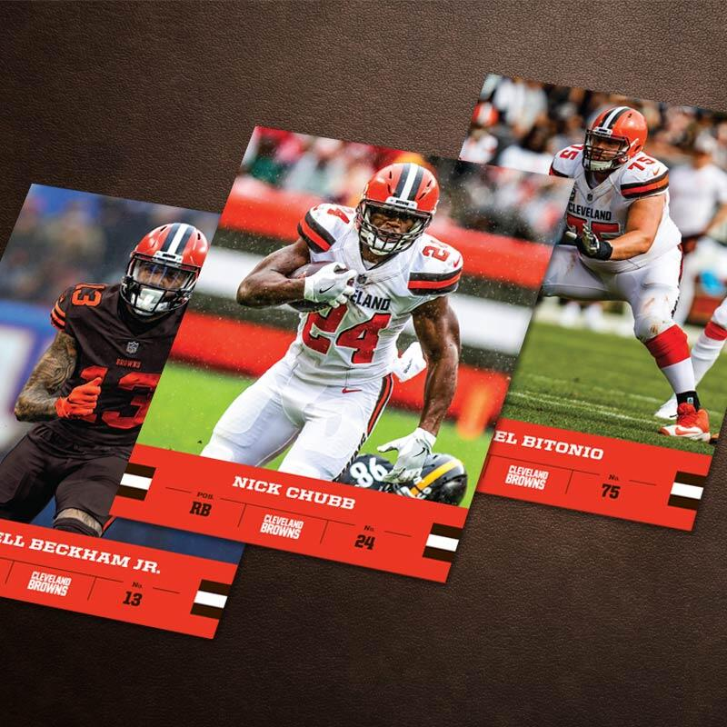 The Cleveland Browns Autograph Cards