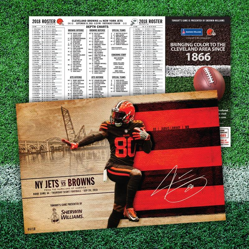 The Cleveland Browns Game Day Poster