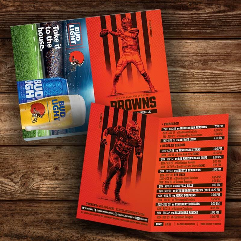 The Cleveland Browns Pocket Schedule Tear Pad