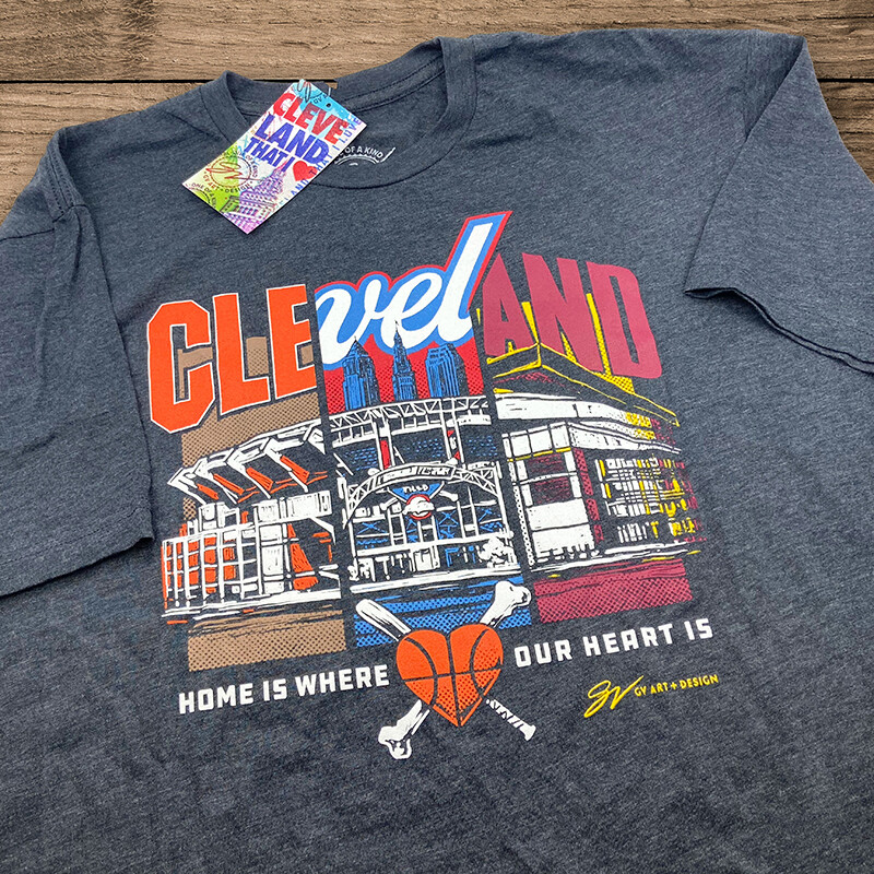 Greater Cleveland Sports Commission GV Art + Design t-shirt