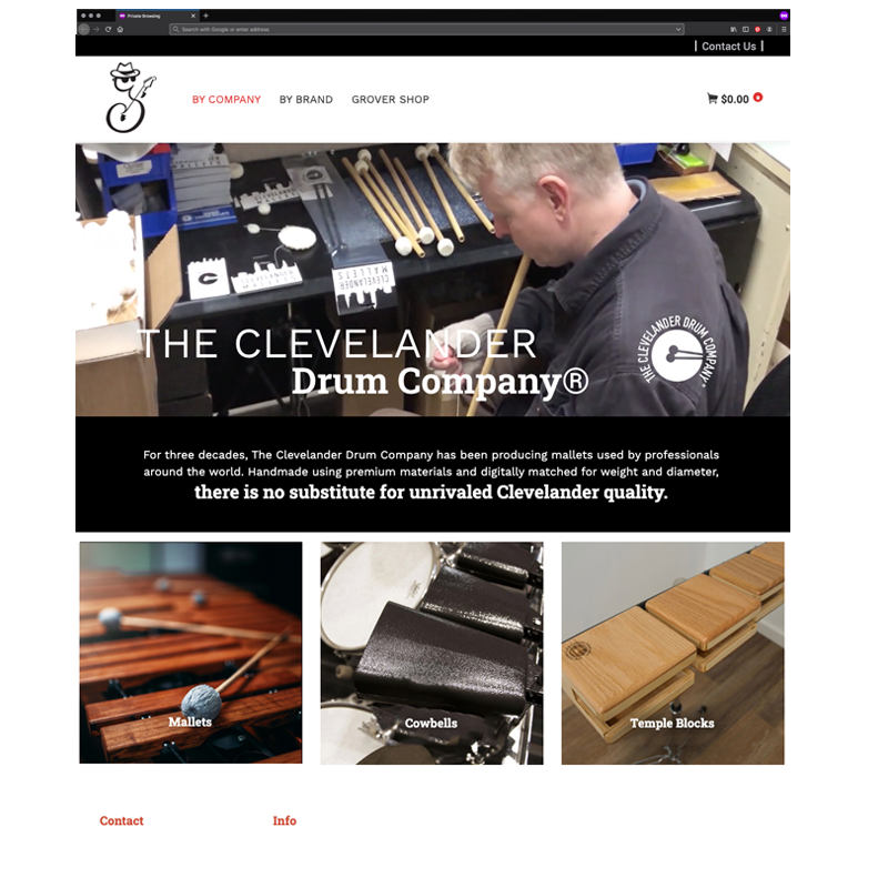 Grover Clevelander Drum Homepage