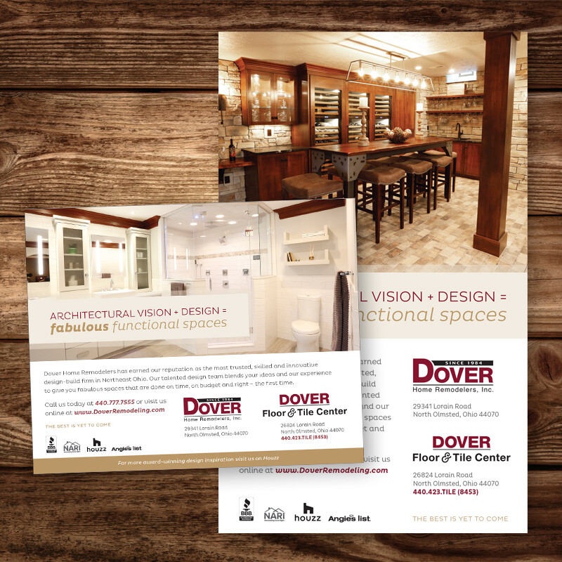 Dover Home Remodelers and Floor & Tile Center Ads