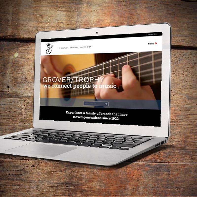 Grover Trophy Website on Laptop Screen