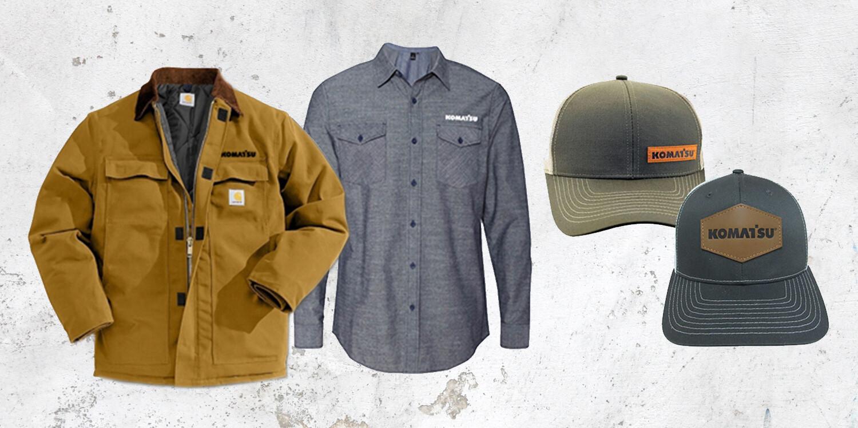 Komatsu Shirts and Hats