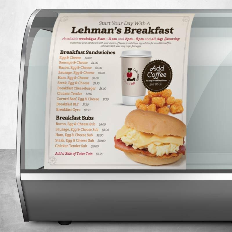 Lehman's Deli Cooler Cling Graphic