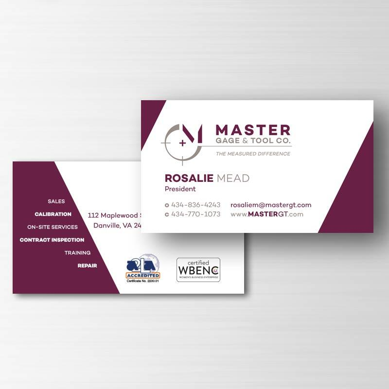 Master Gage & Tool Company Business Card