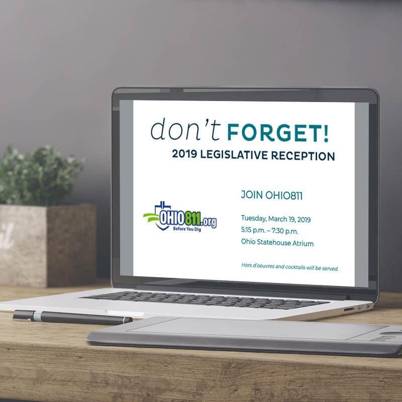 OHIO811 Legislative Reception Reminder Emailer