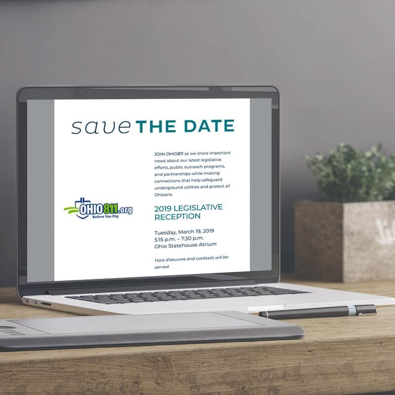 OHIO811 Legislative Reception Save the Date Emailer