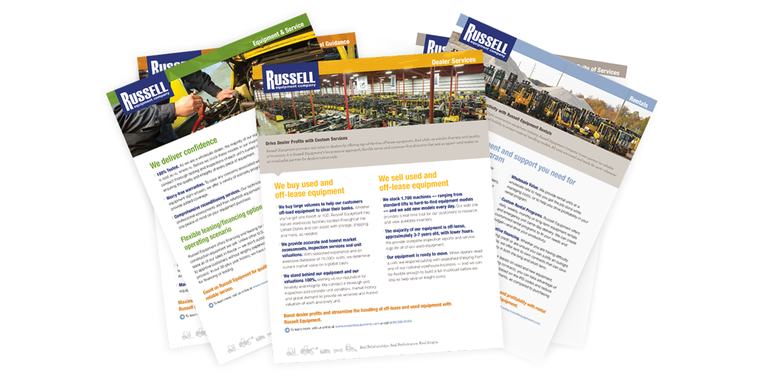 Russell Feature Sheets
