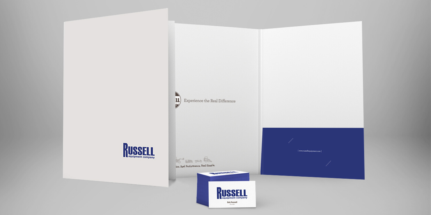 Russell Brochure and Painted Edge Business Cards