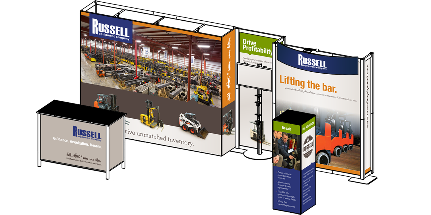 Russell Trade Show Booth