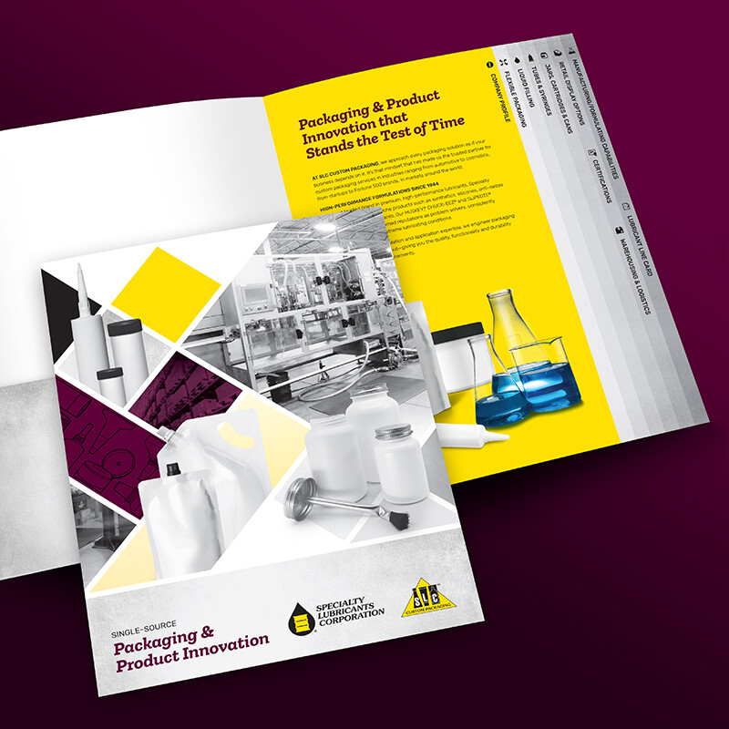 Specialty Lubricants Brochure and Folder Design