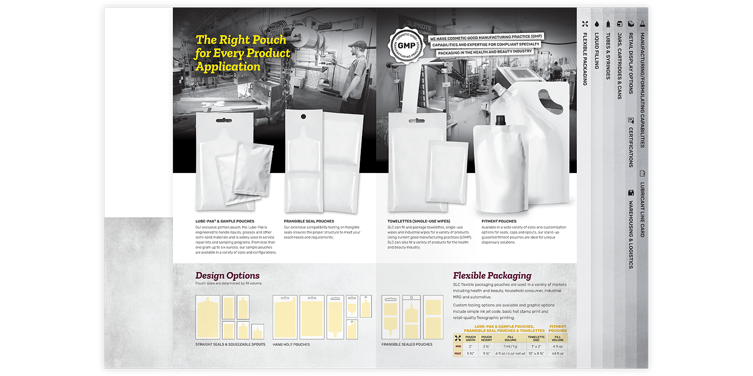 Specialty Lubricants Brochure and Folder Flexible Packaging