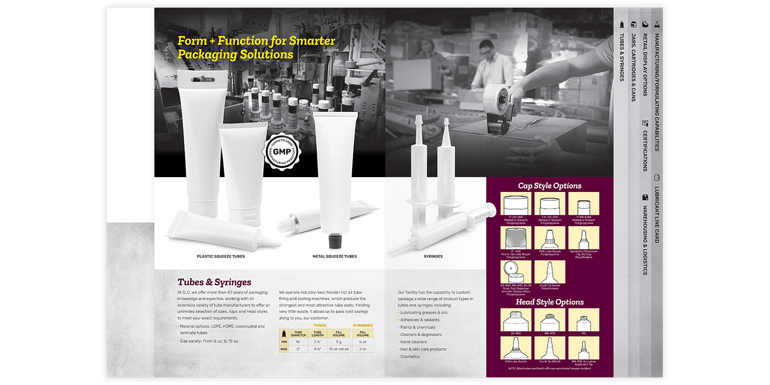 Specialty Lubricants Brochure and Folder Tubes & Syringes