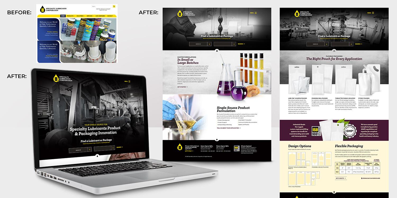 Specialty Lubricants Corporation Website Redesign