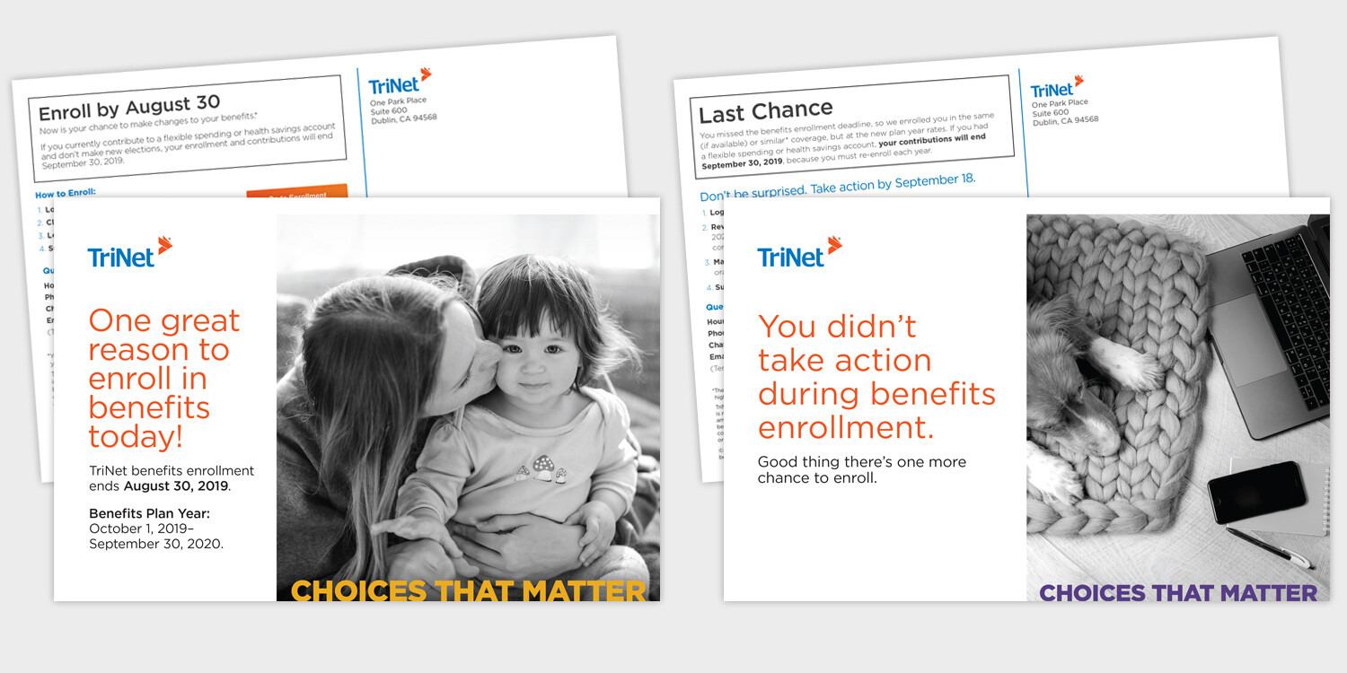 TriNet Direct Mail Postcards