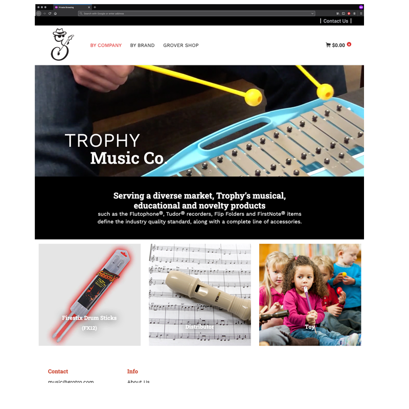 Grover Trophy Music Company Homepage