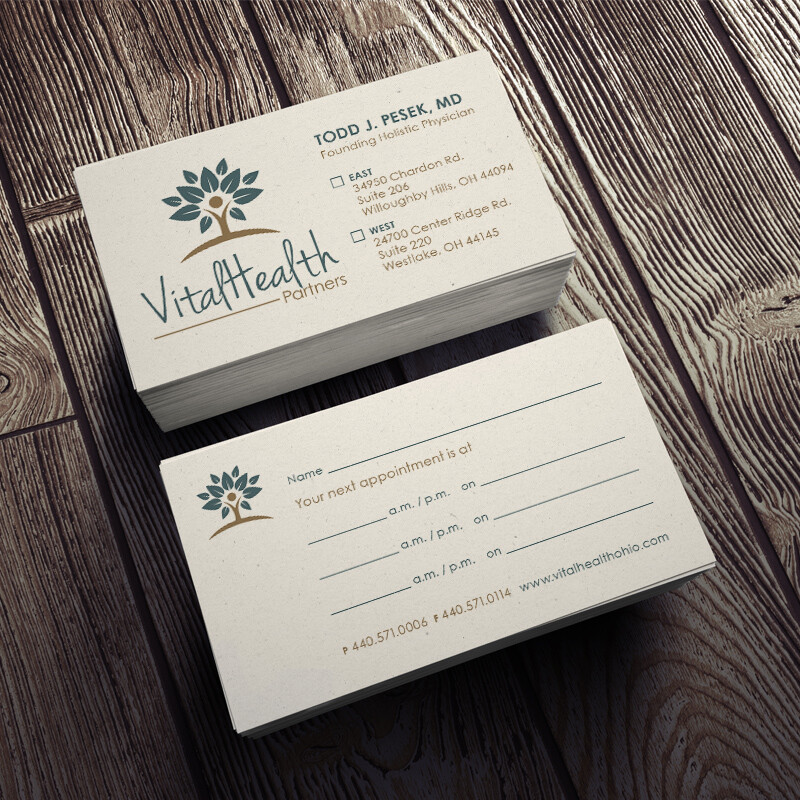 VitalHealth Partners Business and Appointment Cards