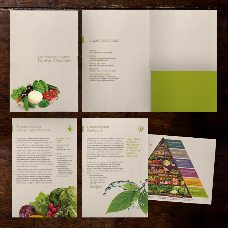 VitalHealth Partners Super Food and Nutrition Folder and Inserts