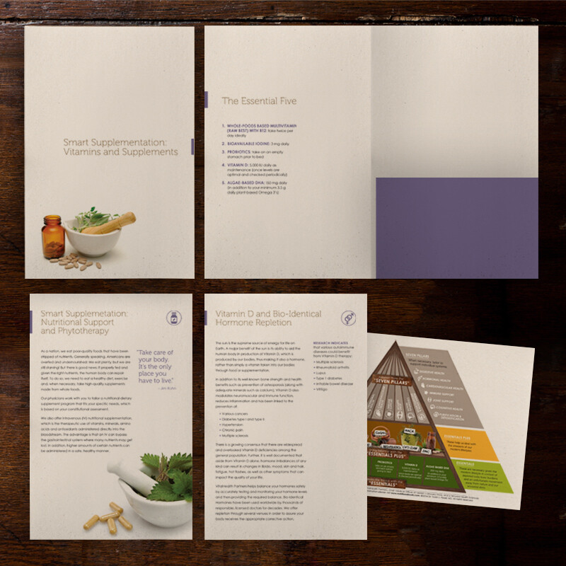 VitalHealth Parners Supplement Folder and inserts