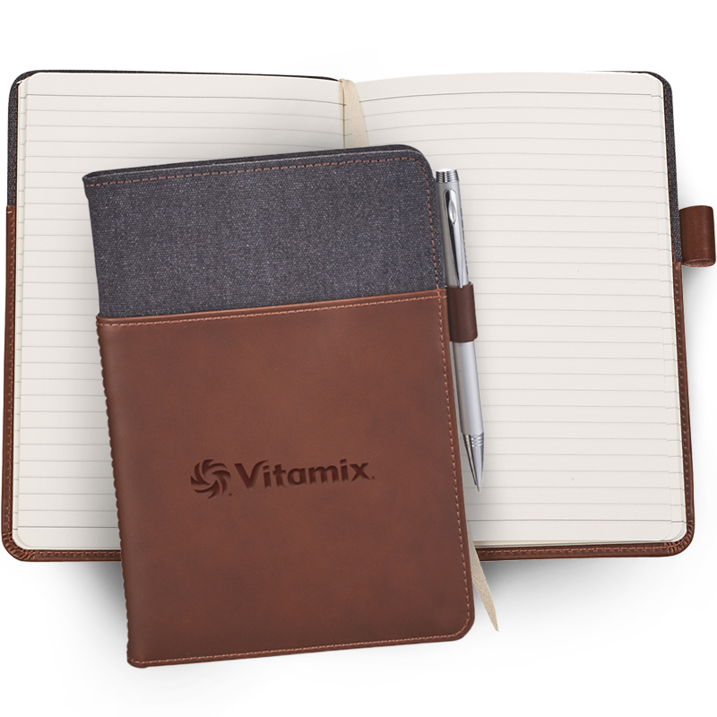 Vitamix Canvas and Leather Journal Book
